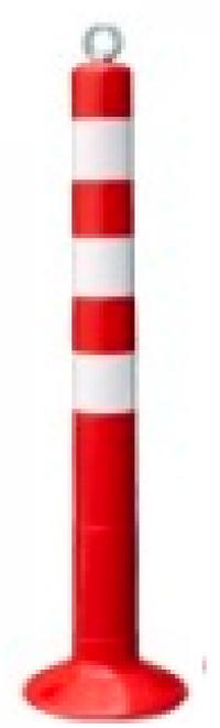 Столбик разделительный гибкий 750мм цельный. С креплением для цепи.