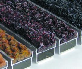 Грязезащитная решетка с очищающей вставкой из синтетического Ворса