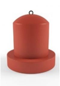 Парковочный столбик бетонный ЦИЛИНДР  с основанием. С верхним креплением