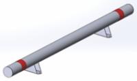 КМ-2000/108х3 Усиленный, прямой на опорных лапах