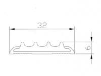 Алюминиевая накладка на ступени AP32