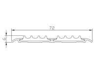 Алюминиевая накладка на ступени AP72