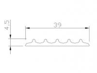Противоскользящая лента резиновая самоклеющаяся PR39