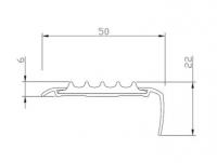 Алюминиевая накладка на ступени угловая AU50