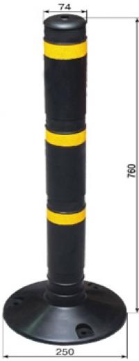 Столбик резиновый чёрный 760мм