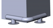 КМ-500/76х3 угловой на ножках Цена индивидуальна