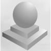 Парковочный шар бетонный на пъедестале