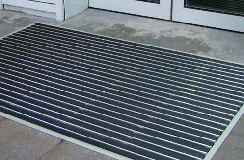 Алюминиевый коврик в сочетании Резина, Скребок